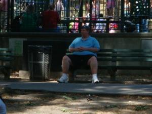 Americano en el parque